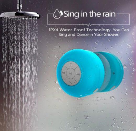 Meezingen onder de douche? Doe het met deze Bluetooth speaker!